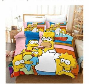 Cartoon The Simpsons 3D Bedding Duvet/Quilt/Doona Cover Sets Pillowcase Anime G