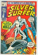 SILVER SURFER 17 7.5  GLOSSY COVER NICE WHITE PAGES 1970 NICK FURY SHIELD FE