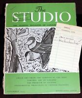 Wes Herschensohn SIGNED 1956 Walt Disney Studio Library Check-out THE STUDIO Mag