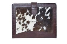 New Cover Case Stand iPAD 2 3 & 4 Brown Cow Fur Print Luxury Genuine Leather