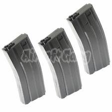 Airsoft Parts 3pc 140rd Mid-Cap Mag Plastic Magazine for M4/M16 Series AEG Black