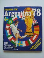 PANINI World Cup 1978,Komplett Album, fullalbum, WM 78, schwedischeVersion