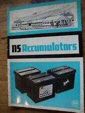 NS ACCUMULATORS CAR / COMMERCIAL / PLANT / TRACTOR BATTERY CATALOGUE UK USA EU