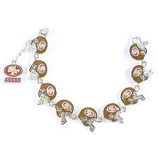 NFL Football San Francisco 49ers NFC Silver Charm Bracelet