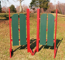Horse Jumps 2 Panel Barn Door Wing Standards 6ft/Pair - Color Choice #219