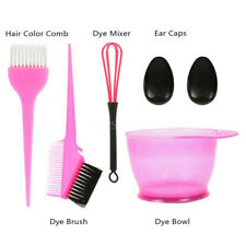 6PCS Hair Dye Color Brush Bowl Set Ear Caps Dye Mix Tint Dying Coloring Tool