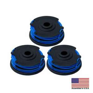 """Homelite autofeed dual .065"""" string trimmer spool line 3 Pack"""