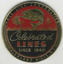 Vintage Celebrated Fishing Line Label by Hall Line Corp. Highland Mills NY