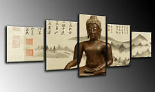 Cuadro Moderno Fotografico base madera, 110 x 50 cm, ref. 26004 Buda, Buddha