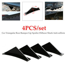 4PC Car Rear Bumper Lip Spoiler Diffuser Shark Anti-collision Trim Deflector Kit