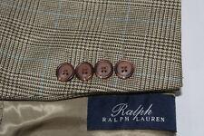 RALPH LAUREN 44L Wool Silk 1-Vent Sport Coat 2B Blazer Glenpalid
