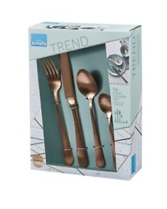 Amefa Trend 16 Piece Stainless Steel Cutlery Set - Copper Top Quality Product