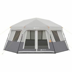 TENT 8-Person Instant Hexagon Cabin Ozark Trail Easy Setup CAMPING Family, NEW!