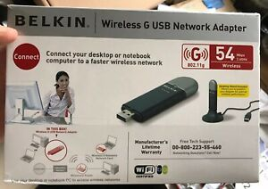Belkin Wireless G USB Network Adapter (54 Mbps 2.4GHz) 802.11g