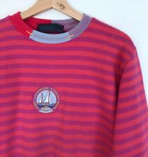 BEST COMPANY MADE IN ITALY PINK / PURPLE STRIPED CREW NECK JUMPER S garcons