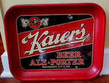 Old Kaiers Rectangular Beer Tray - Mahanoy City Pa 1930's
