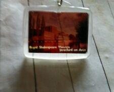 Vintage negative picture Royal Shakespeare Theatre souvenir Keychain Fob