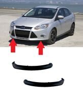 NEW FRONT BUMPER LOWER SPOILER BLACK PAIR SET FOR FORD FOCUS 2011 - 2014