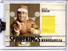 HULK HOGAN 2007 SPORTKINGS * 1 of 10 made* GOLD Edition EVENT WORN T-SHIRT (b)