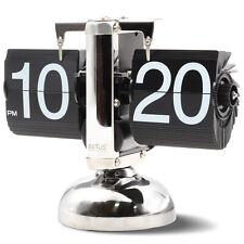 Betus Retro Style Flip Desk Shelf Clock - Classic Mechanical - Digital Display