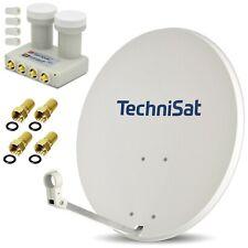 TechniSat 80cm Sat Spiegel grau + OPTICUM Monoblock QUAD LNB ► Astra + Hotbird