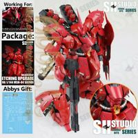 for RG 1/144 MSN-04 Sazabi Gundam Model SH Studio Details Photo Etch Sheet+Decal