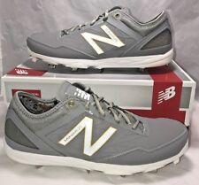 $110 New Balance Mens Size 12 Minimus Baseball Cleats White Gold Grey Metal