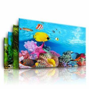 Aquarium Landscape Sticker Poster Fish Tank 3D Background Painting Sticker Doubl