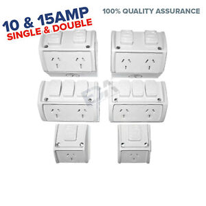 Weatherproof Power Point Socket Outlet Double Single DGPO NEW Water Proof