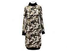 Ballonkleid Langarm Sweat Winter Kleid Abendkleid Damen Extravagant