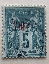 French Colony: Turkish offices, overprinted red Vathy (Samos), 1894, 5C Used
