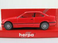 Herpa 021173 BMW M3 Coupé (1992-1999) in rot 1:87/H0 NEU/OVP