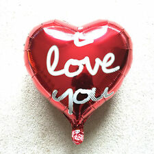 """18"""" I Love You Red Heart Foil  Balloon anniversary Baloon wedding valentines"""