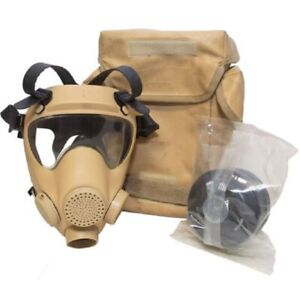 NATO MILITARY MP5 GAS MASK WITH FILTER AND CARRY BAG, DESERT
