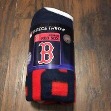 Boston Red Sox Logo Mlb Baseball 40 x 50 Fleece Throw Blanket