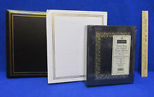 3 Photo Albums Self Stick Pages 3 Ring Binders Black Blue & White