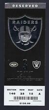 2017 NFL NEW YORK JETS @ OAKLAND RAIDERS FULL UNUSED FOOTBALL TICKET
