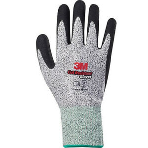 3M Cut Resistant Level-5 Safety Gloves Latex Micro Coated (2 Pairs) Large i