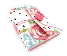 Spotty Floral Travel Journal Notebook, Handbound Book, Handmade Travel Gift