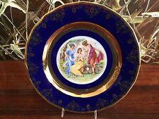 Carlsbad Fine Porcelain de Boheme, Plate 25cm, Romantic Scene Cobalt/Gold