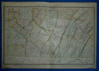 Vintage 1883 Atlas Map ~ SOUTHWESTERN PENNSYLVANIA ~ Old & Authentic ~ Free S&H