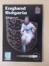 ENGLAND v BULGARIA OCTOBER 10th 1998 - EURO QUALIFIER - VGC PROGRAMME