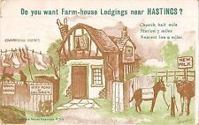 BR74199 postcard donkey farm house lodgings near hastings    uk