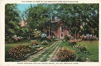Postcard Garden Rear of Old Kentucky Home Bardstown