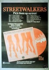 STREETWALKERS (Family) RED CARD TOUR 1976 UK Poster size Press ADVERT 16x12""
