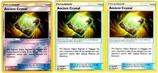 3x LOT Pokemon ULTRA PRISM Ancient Crystal Rev Holofoil & 2 Reg Trainer 118/156