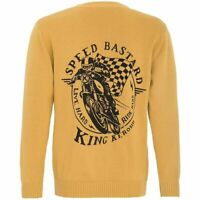 King Kerosin 50er Coffee Racer Rockabilly Biker Strickpullover Speed Bastard