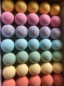 RAINBOW MINI BATH BOMBS-Great party favour PACK OF 35