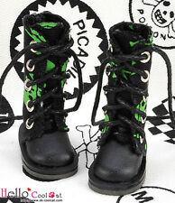 ☆╮Cool Cat╭☆【13-19】Blythe Pullip Doll Shoes Boots # Skeleton Green