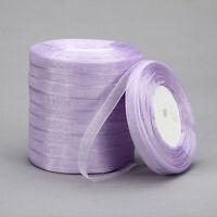 """50 Yards 3/4""""20mm Satin Edge Sheer Organza Ribbon Bow Craft Wedding CHOOSE COLOR"""